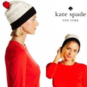 *NWT Kate Spade Cupcake Pom Pom Beanie Hat